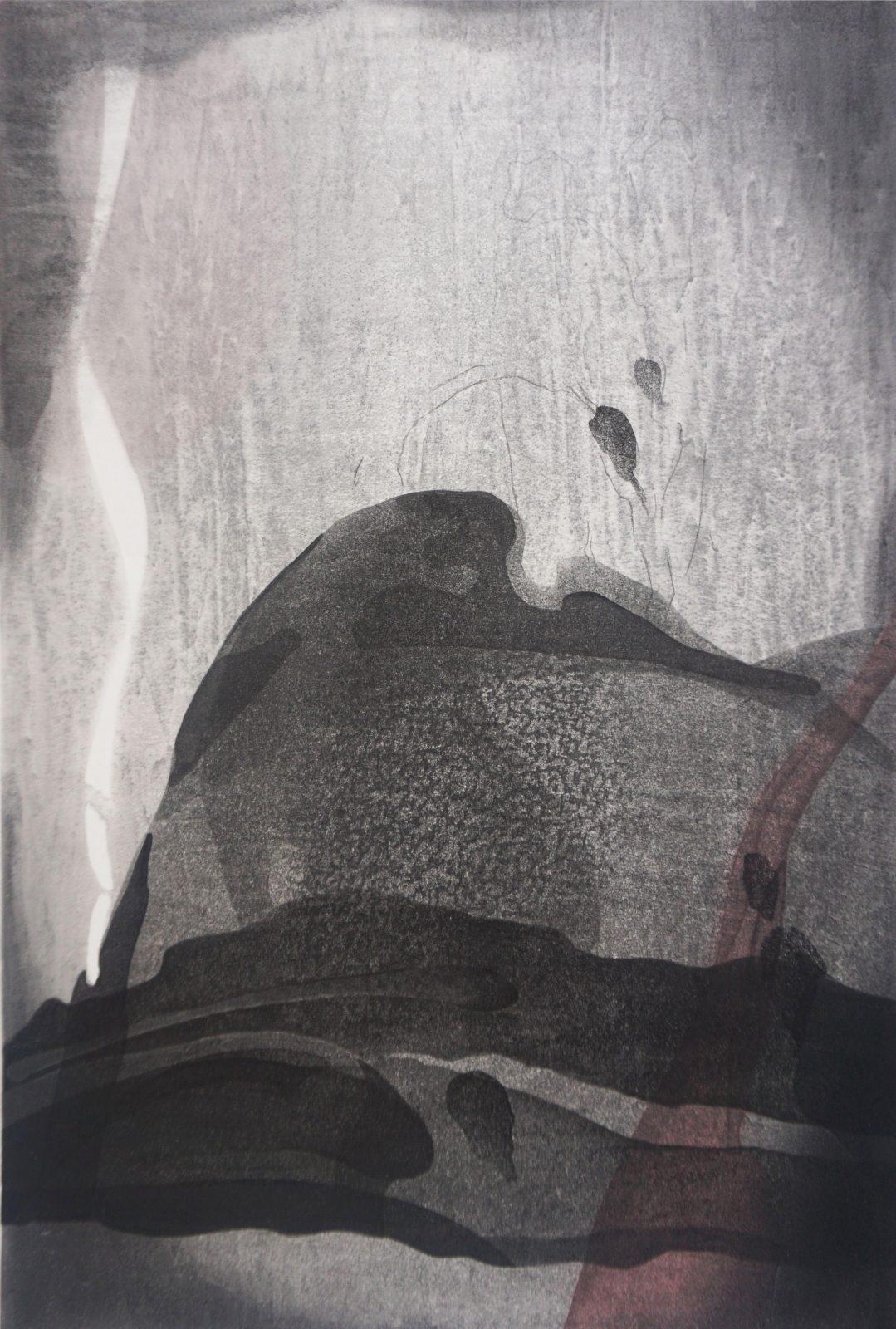 Huang Jinyi 黄金一 Southern Migration – Throb '南迁 悸动' 90 x 60 cm, 2016