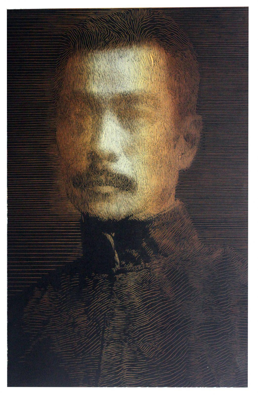 Master 02 '大师 02', Liu Jing 刘京, 90 x 60 cm, 2017 copy
