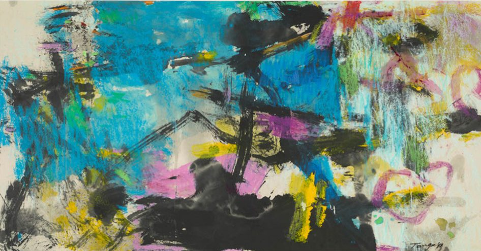 River Thames9 by Tang Chenghua, 143x74cm Mixture Watercolour, Ink, oil pastel, Painting