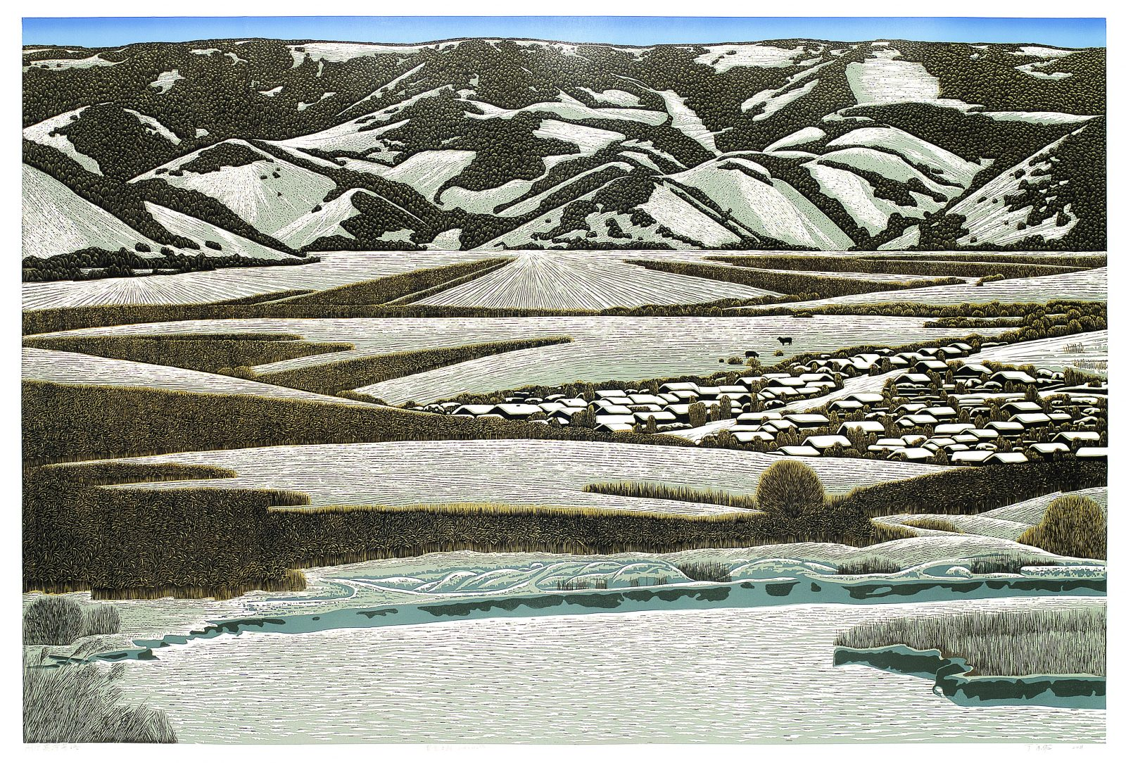 Winter in the Lianghe Village 亮河屯之冬,100x150cm, 2011