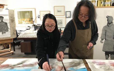 The Daily Printmaking of Father and Daughter